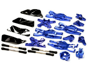 INTEGY RC T8695BLUE Machined Suspension Kit for HPI 110 Bullet MT