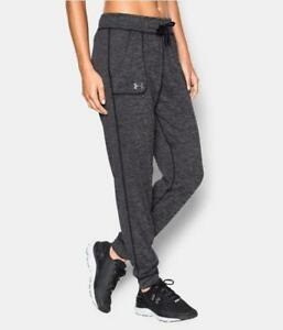 UNDER ARMOUR Womens UA Twisted Tech Track Pant Joggers 1269183 Black Size L