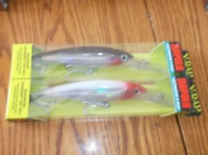 RAPALA X-RAP MAGNUM 30's--lot of 2 DIFFERENT COLORED-FISHING LURES-XRMAG30