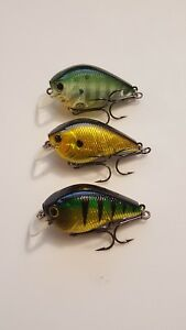 Lot of 3 Lucky Craft Fat CB BDS 1 crankbait fishing lures