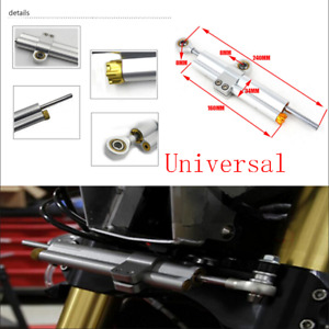 Universal CNC Motorcycle Steering Damper Stabilizer Reversed Safety Control 24cm