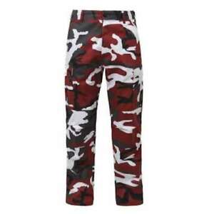 Red Camo BDU Military Pants Rothco Color Camouflage Tactical Pant NEW $32.99