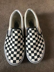 Vans Checkerboard Slip-On Off White Black Womens size 7Mens size 5.5
