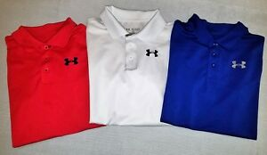 Under Armour UA Boys Polo Collared Shirt Loose Fit Youth XL Extra Large EUC