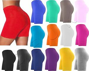 New Ladies women Cotton Shorts Sports Cropped Pant Cycling Legging Gym Running