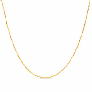 18k Gold Plated .925 Sterling Silver 1mm Box Chain Necklace 12 40 inches $6.99