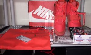 NIKE AIR YEEZY 2 SP (RED OCTOBER) AUTOGRAPHED! US13 DS 508214-660 ALL OG