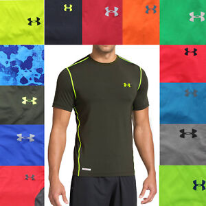 Under Armour UA Men's Heatgear Fitted Fit Active Short Sleeve T Tee Shirt $29.99