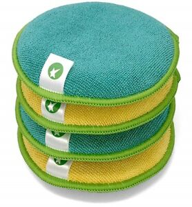 Starfiber Microfiber Scrubbing Pads Scrubbies 4 Pack for Kitchen Use