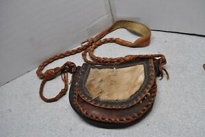 vintage leather black powder muzzle loader possible bag