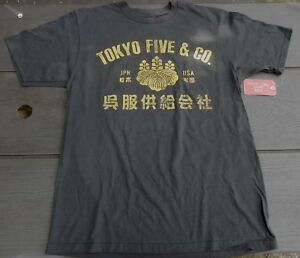 NEW w/ Tags / Mens Tokyo Five Co Brand Vintage Look T-shirt  GRAY GREY Sz M