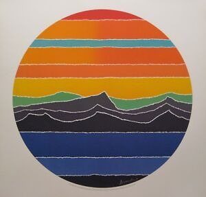 Roundscape: Circular Blue Stream - 1981 Ltd Ed. Lithographs by ARTHUR SECUNDA
