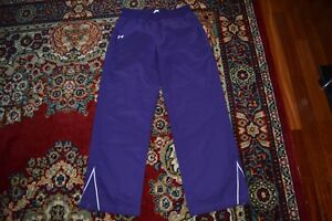 UNDER ARMOUR WOMEN TRACK PANTS PURPLE LINED SIZE- M NEW