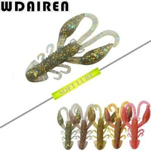 20Pcslot Soft Silicon Shrimp Fishing Lures 50mm 2.2g Artificial Shrimp Baits