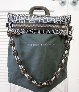 $2000 Proenza schouler animal pttrn handbag rear unique design