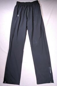 Under Armour Womens Heat Gear Fitted Running Track Pants Solid Black Medium