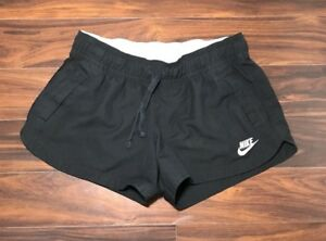 Nike Women's Athletic Shorts Sportswear Running Solid Black Size L *Excellent