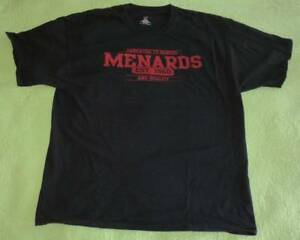 MENARDS Home Improvement Store Hardware SHIRT Adult Sz 2XL Man's 2X Black XXL