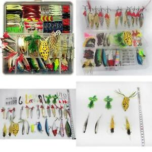 Fishing Lures For Freshwater And Saltwater 180 Pcs Fishing Lure Set Plastic Box