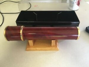 Nib kaleidoscope With Wooden Base 8 Inches Long Heavy Made By World Of Science