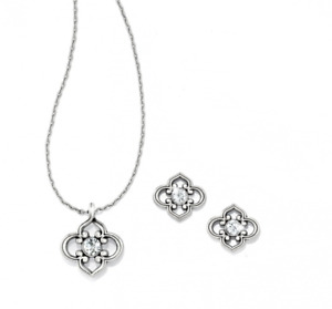 NEW Brighton Mini TOLEDO Necklace Earrings Set Swarovski Crystals Pouch MSRP $54