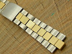 Baldwin for Bulova Vintage NOS Unused 2 Tone Watch Band 19mm Deployment Bracelet