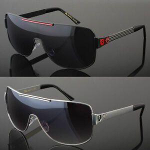 New Large Aviator Sunglasses Smoke Lens Men's Metal Frame Vintage Frame Retro