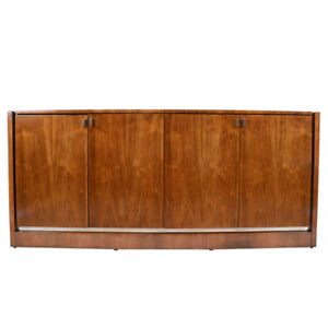 Vintage Walnut Credenza by Founders Furniture Company in Excellent Condition