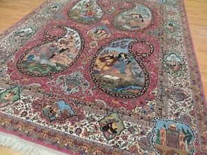 Paisley Pictorial mosque Royal kings Rug 10x13 10x14 SILK GORGEOUS!