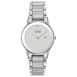 Citizen Eco-Drive Women's GA1050-51A Axiom Silver-Tone Bracelet 30mm Watch