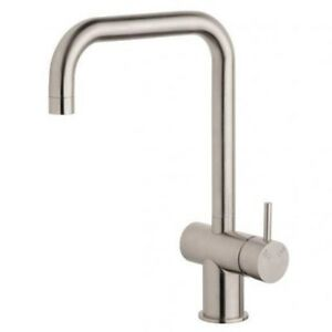 Sussex SCALA SQUARE LARGE SINK MIXER Right Hand WELS 4 Star Stainless Steel