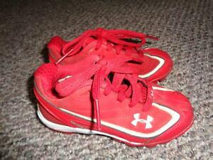 Under Armour Toddler Boy's  Girl's Red Cleats  Sz 11K