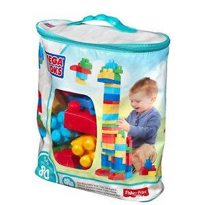 80 Pieces Toy Building Blocks Bag For Toddlers Kids Baby Play Construction Set
