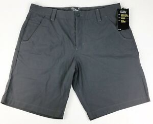 NWT $59 Under Armour Hydro Shorts Gray UPF Quick Dry Loose Fit Mens Size 38