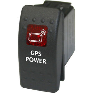 Rocker switch 746 red 12V GPS POWER water resistant marine boat fishing