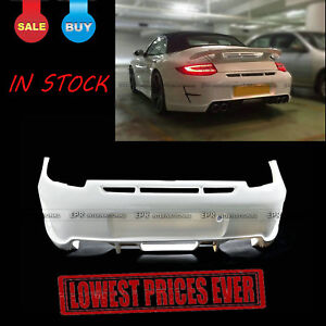 For Porsche 911 997 Pior Design FRP Rear Bumper Mark I Wide BodyKit Unpainted