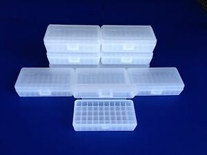 10 pack of 50 round plastic ammo boxes SP-50 Small Pistol 380 9mm