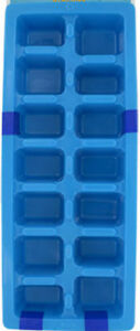 Easy Release Plastic Ice Cube Tray Pack of 2 Blue