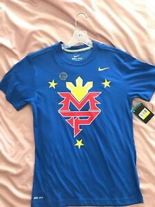 Manny PACMAN Pacquiao Nike DRI-FIT shirt men's SMALL BRAND NEW Philippines