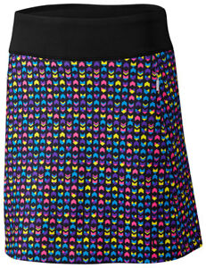 Cutter & Buck Women's invisible Zip Pockets Abby Printed Pull On Skort. LCB00003