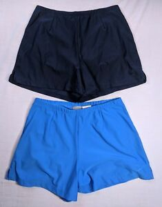Nike Fit Dry Women's Athletic Shorts Size Small (4-6) Navy and Blue LOT OF 2
