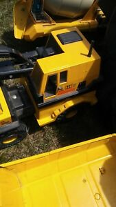 Vintage Tonka Mighty Diesel Pressed Metal Yellow Dump Truck Construction XMB-975