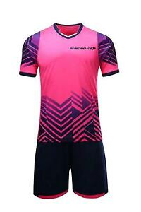 Soccer Jerseys for Kids Boys and Girls Shorts and T-Shirts Sports Wear Set Pink
