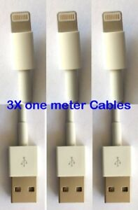 3-PACK USB Data Charging Charger Cables Cords For Apple iPhone 5 6 7 8 X