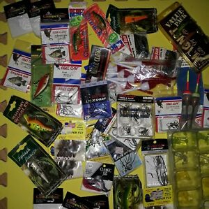 Huge Lot New Fishing Tackle Rattle Jigs Treble Crappie Bass Hooks Lures Floats