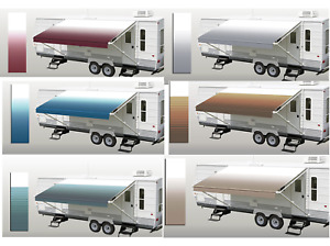 RV Patio Awning Replacement Fabric Camping Trailer Shade Sun Weather Shield NEW