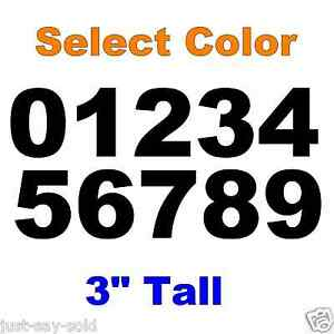 0 9 Numbers 1x Set Vinyl Decals 3quot; Inches DIY Sign Car Dealer Select Color