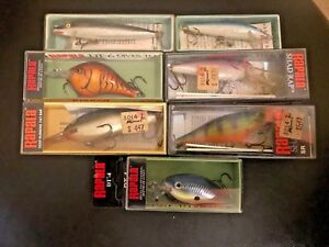 VINTAGE RAPALA LURES lot of 6 IN ORIGINAL BOXES NO RESERVE NIB Handmade Lures