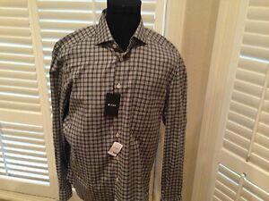 $795 Kiton Dress Sport Shirt 100% Cotton hand made in Italy