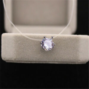 Simple Crystal Necklace Invisible Line Zircon Clavicle Chain Women Accessories